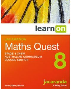 Jacaranda Maths Quest 8 Stage 4 NSW AC 2E LearnON (Access Code)