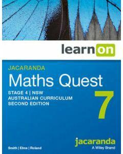 Jacaranda Maths Quest 7 Stage 4 NSW AC 2E LearnON (Access Code)