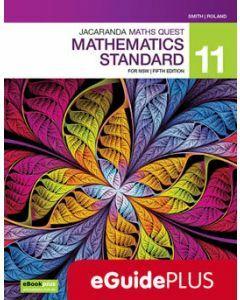Jacaranda Maths Quest 11 Mathematics Standard 5E eGuidePLUS (Teacher Digital Access Code)