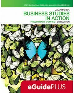 Jacaranda Business Studies in Action Preliminary 5E eGuidePLUS (Teacher Access Code)