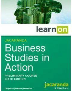 Jacaranda Business Studies in Action Preliminary 6e learnON (Access Code)