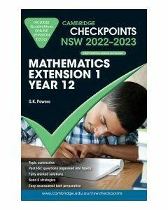 Cambridge Checkpoints NSW Mathematics Extension 1 Year 12 2022-23