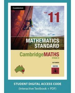 CambridgeMATHS Stage 6 Mathematics Standard Year 11 interactive textbook (Access Code)