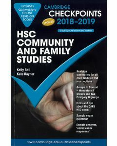 Cambridge Checkpoints HSC Community and Family Studies 2018-2019