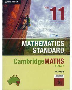 CambridgeMATHS Mathematics Standard 11 (print and interactive textbook powered by Cambridge HOTmaths)