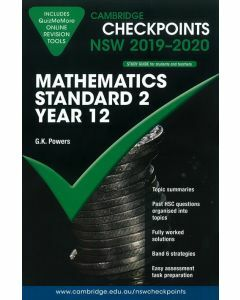 Cambridge Checkpoints Year 12 Mathematics Standard 2 2019-2020