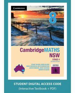 CambridgeMATHS NSW Year 8 Second Edition interactive textbook (Access Code)