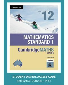 CambridgeMATHS Mathematics Standard 1 Year 12 interactive textbook (Access Code)
