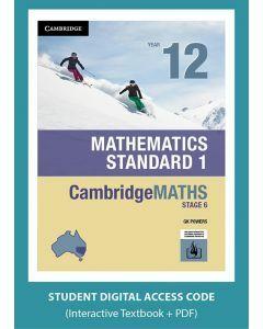 CambridgeMATHS Stage 6 Mathematics Standard 1 Year 12 interactive textbook (Access Code)