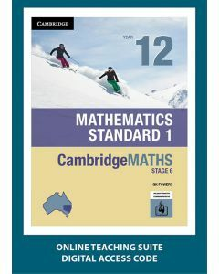 CambridgeMATHS Stage 6 Mathematics Standard 1 Year 12 Online Teaching Suite