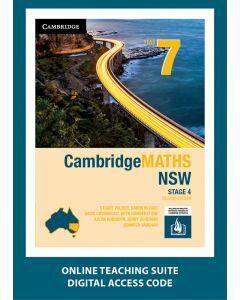 CambridgeMATHS NSW Year 7 Second Edition Online Teaching Suite