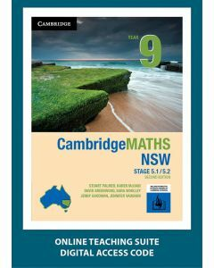 CambridgeMATHS NSW Year 9 5.1/5.2 Second Edition Online Teaching Suite