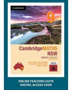 CambridgeMATHS NSW Year 9 5.1/5.2/5.3 Second Edition Online Teaching Suite