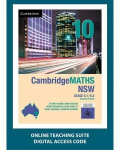 CambridgeMATHS NSW Year 10 5.1/5.2 Second Edition Online Teaching Suite
