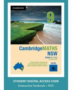 CambridgeMATHS NSW Year 9 5.1/5.2 Second Edition interactive textbook (Access Code)