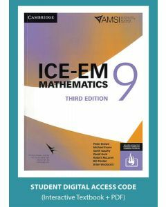 ICE-EM Maths Year 9 - 3rd Edition Interactive Textbook (Access Code)