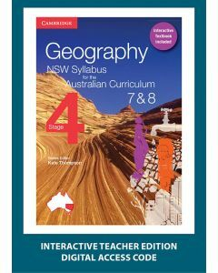 Geography NSW for the AC Stage 4 Year 7&8 Interactive Textbook Teacher Edition (1 Access Code)