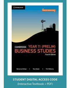 Cambridge Business Studies Year 11 4e (Digital Access Code)