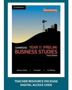 Cambridge Business Studies Year 11 4e Teacher Resource Package (Teacher Access Code)