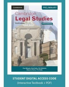 Cambridge Preliminary Legal Studies 4E (Digital Access Code)