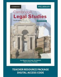 Cambridge Preliminary Legal Studies 4E Teacher Resource Package (1 Teacher Access Code)