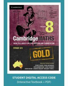 CambridgeMaths GOLD NSW for AC Year 8 (Digital Access Code)