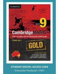 CambridgeMaths GOLD NSW for AC Year 9 (Digital Access Code)