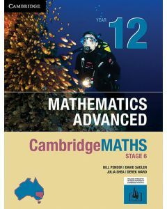 [Pre-order] CambridgeMATHS Mathematics Advanced Year 12 (print and interactive textbook) [Due late Aug 2019]