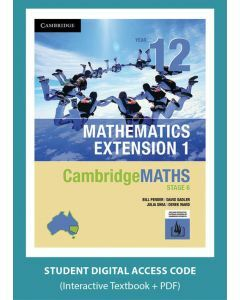 [Pre-order] CambridgeMATHS Mathematics Extension 1 Year 12 interactive textbook (Access Code) [Due Oct 2019]