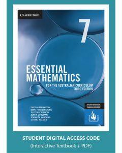 Essential Mathematics Australian Curriculum Year 7 3e interactive textbook (Access Code)