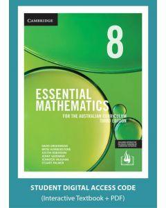 Essential Mathematics Australian Curriculum Year 8 3e interactive textbook (Access Code)