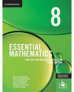 Essential Mathematics Australian Curriculum Year 8 3e (print and interactive textbook)
