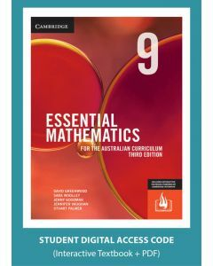 [Pre-order] Essential Mathematics Australian Curriculum Year 9 3e interactive textbook (Access Code) [Due Oct 2019]