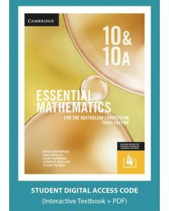 [Pre-order] Essential Mathematics Australian Curriculum Year 10&10A 3e interactive textbook (Access Code) [Due Nov 2019]