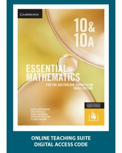 [Pre-order] Essential Mathematics Australian Curriculum Year 10&10A 3e Online Teaching Suite Code [Due Nov 2019]
