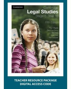 Cambridge Legal Studies Stage 6 Year 12 5e Teacher Resource Package (Access Code)