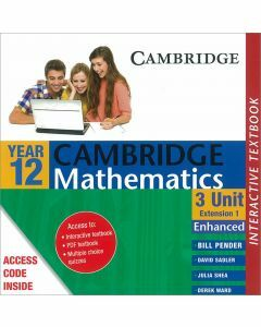 Cambridge Mathematics 3 Unit Year 12 Enhanced Version Interactive Textbook (Access Code)