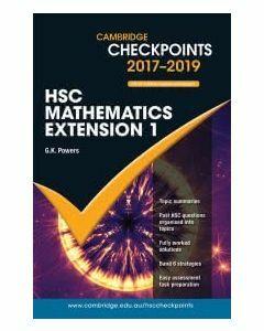 Cambridge Checkpoints HSC Mathematics Extension 1 2017-2019