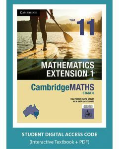 CambridgeMATHS Mathematics Extension 1 Year 11 interactive textbook (Access Code)