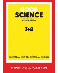 [Pre-order] Good Science NSW Stage 4 Student Book Digital Access Code [Due Aug 2019]