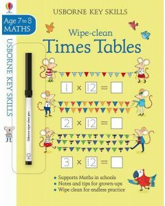 Usborne Key Skills: Wipe- Clean Times Tables (Ages 7-8)