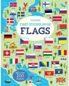 Usborne First Sticker Book - Flags (Ages 3+)