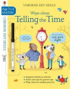Usborne Key Skills: Wipe- Clean Telling the Time (Ages 7-8)