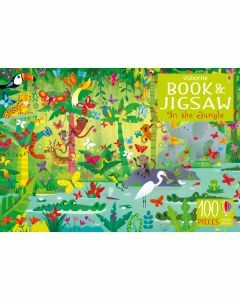 Usborne Book and Jigsaw: In the Jungle 100 Pieces (Ages 5+)