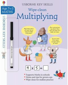 Usborne Key Skills: Wipe- Clean Multiplying (Ages 7-8)