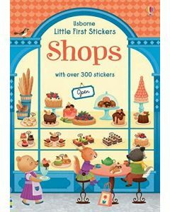 Usborne Little First Stickers - Shops (Ages 3+)