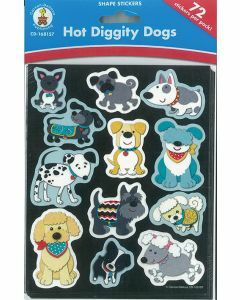 Hot Diggity Dogs Shape Stickers (CD-168157)