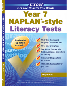 Excel NAPLAN*-style Literacy Tests Year 7 [Temporarily out of stock]