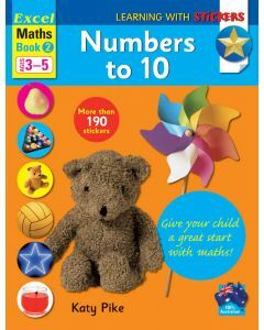 Excel Learning with Stickers: Maths Book 2 Preschool Skills - Numbers to 10 (Ages 3 to 5)