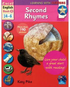 Excel Learning with Stickers: English Book 8 School Skills - Rhymes, Reading Comprehension (Ages 4 to 6)